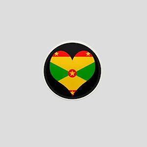 I love grenada Flag Mini Button