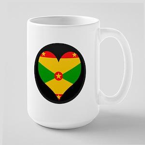 I love grenada Flag Large Mug