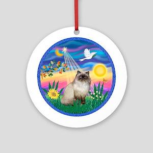 Twilight / Himalayan Cat Ornament (Round)