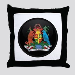 Coat of Arms of grenada Throw Pillow