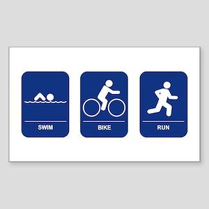 Triathlon Rectangle Sticker