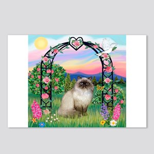 Rose Arbor / Himalayan Cat Postcards (Package of 8