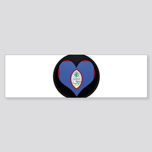 I love GUAM Flag Bumper Sticker