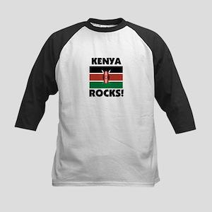 Kenya Rocks Kids Baseball Jersey