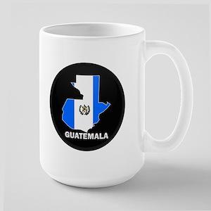 Flag Map of Guatemala Large Mug