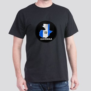 Flag Map of Guatemala Dark T-Shirt