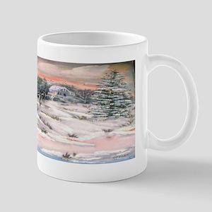Snowy Mountain Sunset Mug