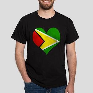 I Love guyana Dark T-Shirt
