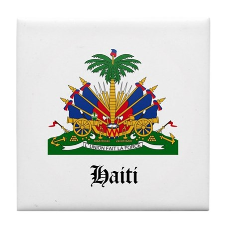 Haitian Coat of Arms Seal Tile Coaster
