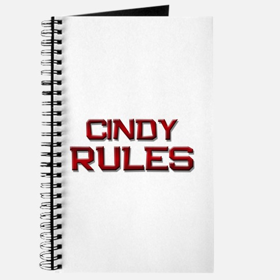cindy rules Journal