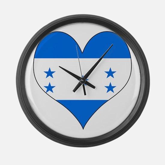 I Love Honduras Large Wall Clock