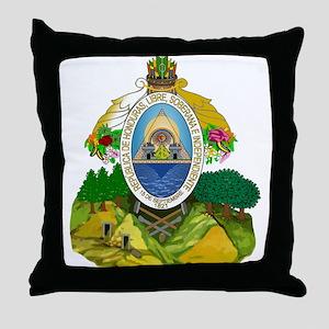 Honduras Coat of Arms Throw Pillow