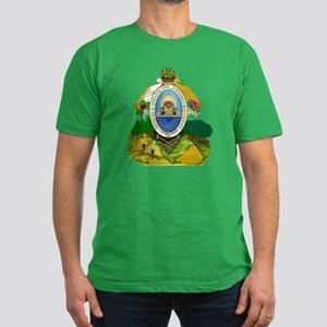 Honduras Coat of Arms Men's Fitted T-Shirt (dark)