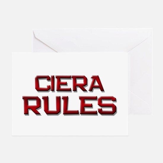 ciera rules Greeting Card
