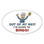 BINGO!! Oval Sticker