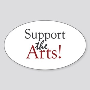 Support the Arts Oval Sticker