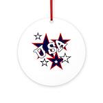 USA Patriotic Keepsake (Round)