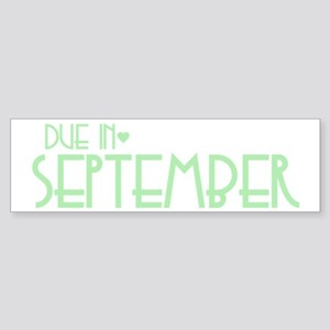 Green Urban Heart Due September Bumper Sticker