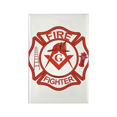 Brother Fire Fighter Rectangle Magnet (100 pack)