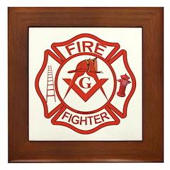 Brother Fire Fighter Framed Tile