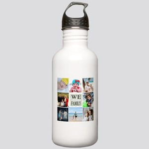 Custom Family Photo Collage Water Bottle