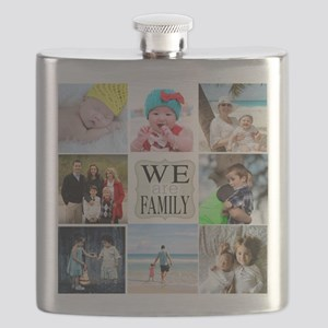 Custom Family Photo Collage Flask