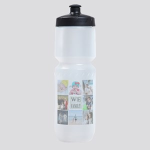 Custom Family Photo Collage Sports Bottle