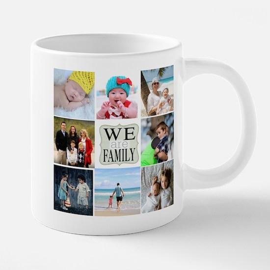 Custom Family Photo Collage 20 oz Ceramic Mega Mug