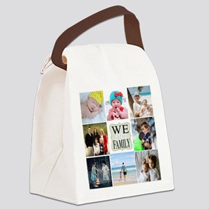 Custom Family Photo Collage Canvas Lunch Bag