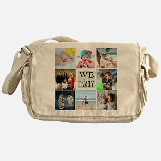 Custom Family Photo Collage Messenger Bag