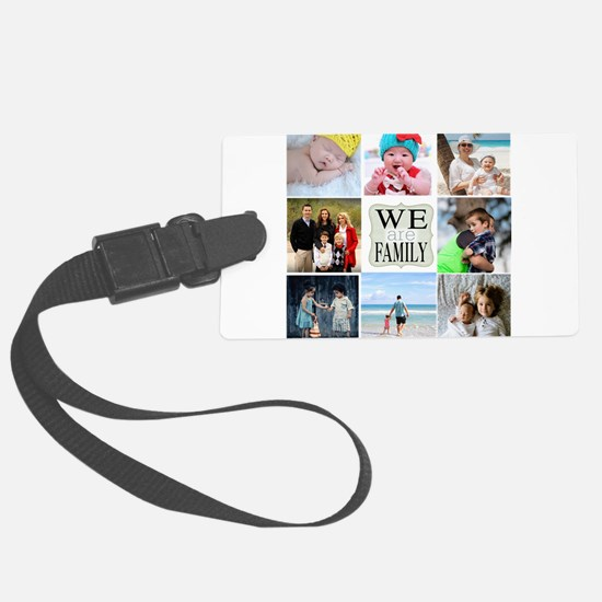 Custom Family Photo Collage Luggage Tag