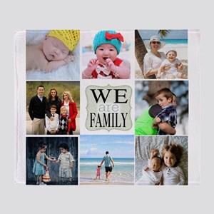 Custom Family Photo Collage Throw Blanket