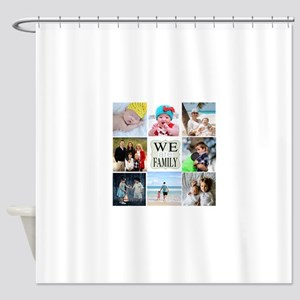 Custom Family Photo Collage Shower Curtain