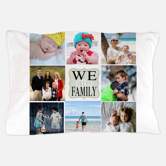 Custom Family Photo Collage Pillow Case