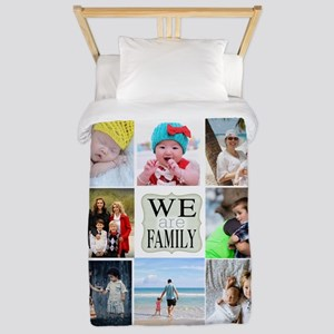 Custom Family Photo Collage Twin Duvet Cover