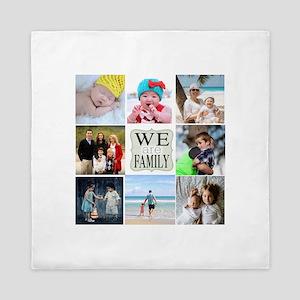 Custom Family Photo Collage Queen Duvet