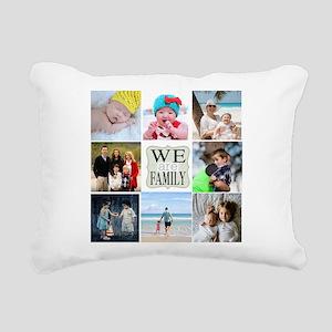 Custom Family Photo Collage Rectangular Canvas Pil
