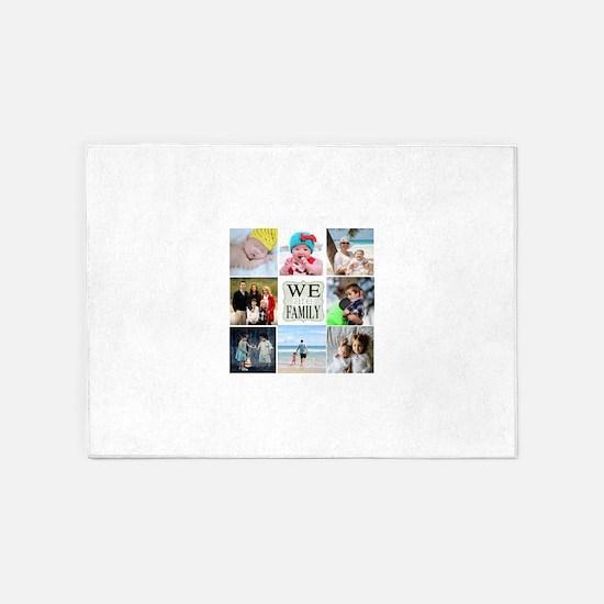 Custom Family Photo Collage 5'x7'Area Rug