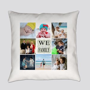 Custom Family Photo Collage Everyday Pillow