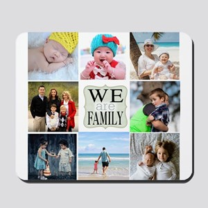 Custom Family Photo Collage Mousepad