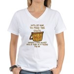 Goat Feed Bucket Goat Lady Women's V-Neck T-Shirt