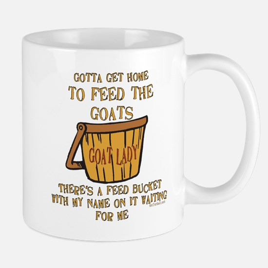 Goat Feed Bucket Goat Lady Mug