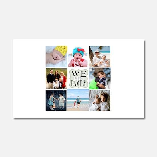 Custom Family Photo Collage Car Magnet 20 x 12