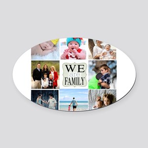Custom Family Photo Collage Oval Car Magnet