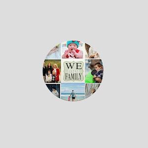 Custom Family Photo Collage Mini Button