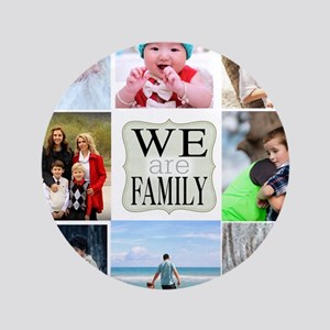 Custom Family Photo Collage Button