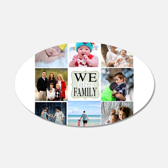 Custom Family Photo Collage Wall Decal