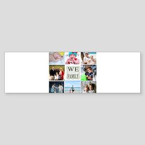 Custom Family Photo Collage Bumper Sticker