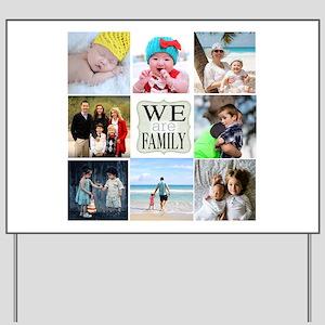Custom Family Photo Collage Yard Sign