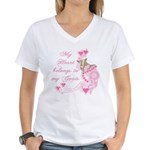 Goat Hearts Women's V-Neck T-Shirt